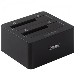 iDsonix® USB3.0 Super Speed Dual Bay 2.5-inch & 3.5-inch SATA Hard Drive Docking Station
