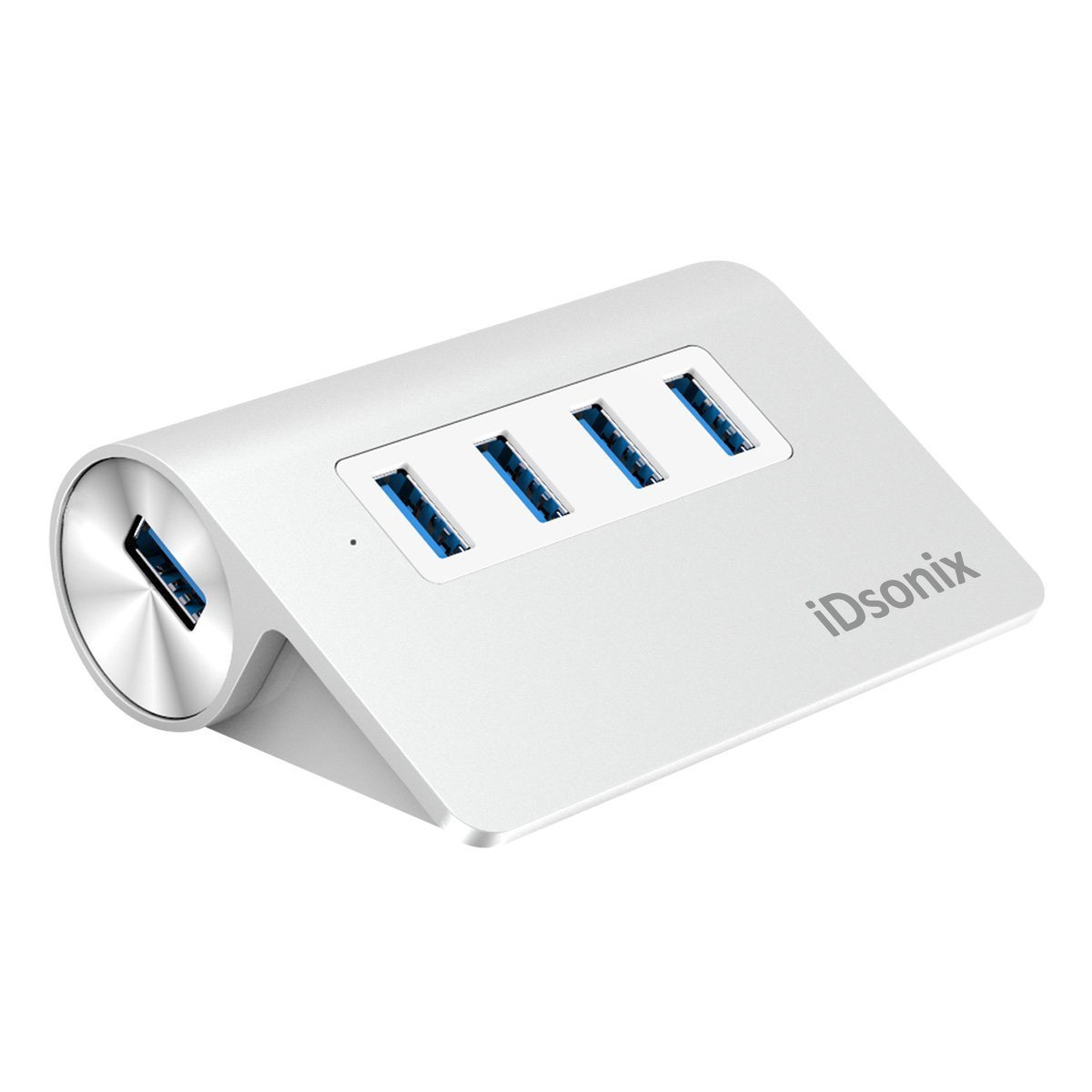 iDsonix® Aluminum USB 3.0 4 Ports Hub,Windows 10/Mac/Linux Removable Multi USB Hub-Silver